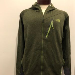 THE NORTH FACE JACKET HOODIE MENS GREEN SIZE XL